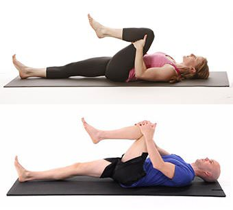 lower back pain-one knee to chest